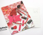 Fellfische - Hand Bag Pink Postcard